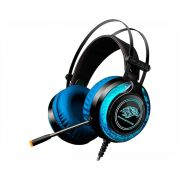 Headset Gamer LED RGB Kmex ARS930 Azul