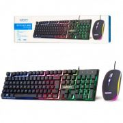 Kit Mouse e Teclado Gamer LED RGB EXBOM BK-G550