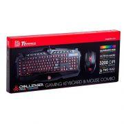 Kit Mouse e Teclado Gamer Thermaltake Challenger Prime Rgb kb-cpc-mbbrpb-01