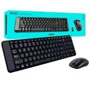 Kit Mouse e Teclado Wireless Logitech MK220