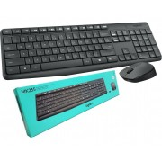 Kit Mouse e Teclado Wireless Logitech MK235