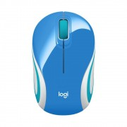 Mini Mouse Usb Logitech M187 Azul
