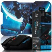 Mouse USB Gamer com Mouse Pad Knup Kp-v36