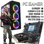 PC Gamer / i3 9100F / H310 / 8GB 2666mhz / SSD 120GB / R7 250 / Fonte 450W 80+
