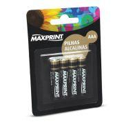 Pilha Alcalina AAA Maxprint 75636-2