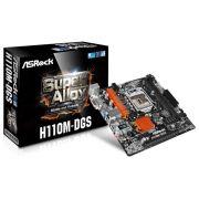 Placa Mãe Intel 1151 Asrock h110M-dgs Dvi