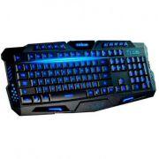 Teclado Gamer Usb Multimidia com iluminação 3 cores Exbom BK-G35
