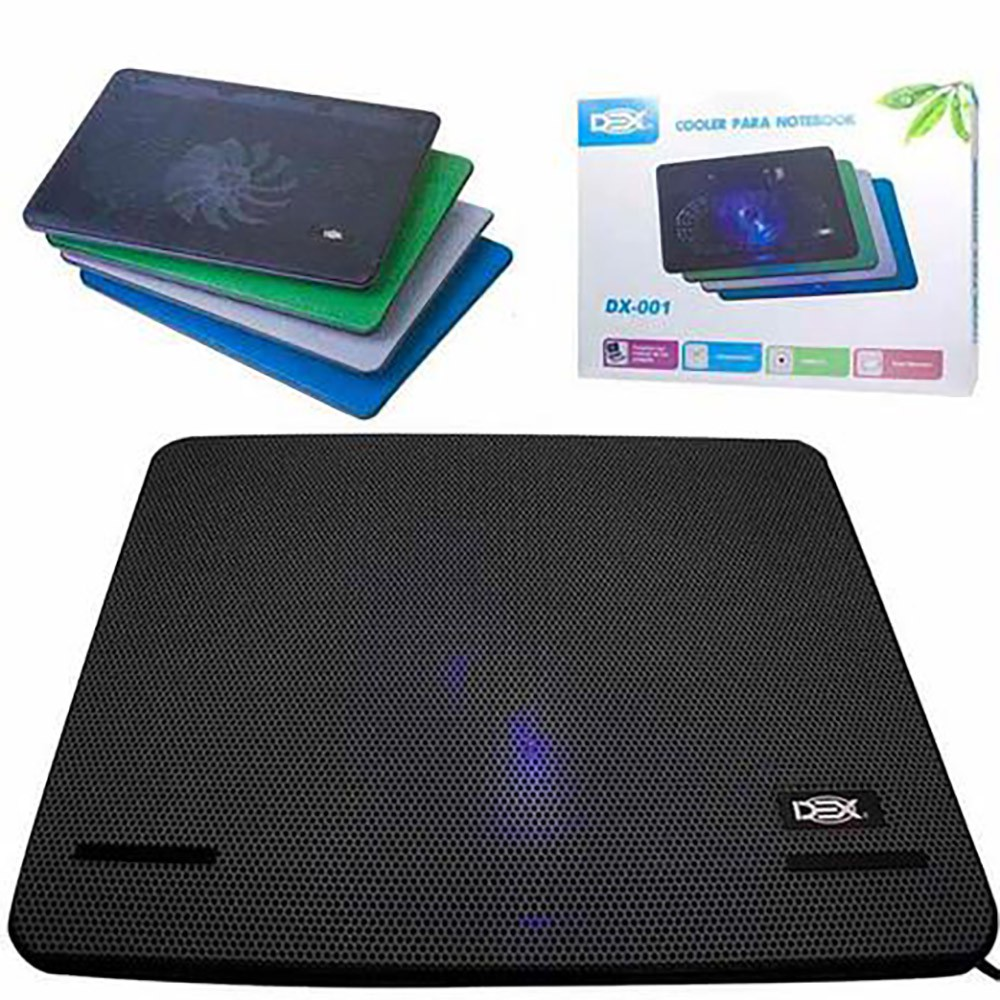 Base Ergonômica para Notebook com Cooler Dex e Led Dx-001