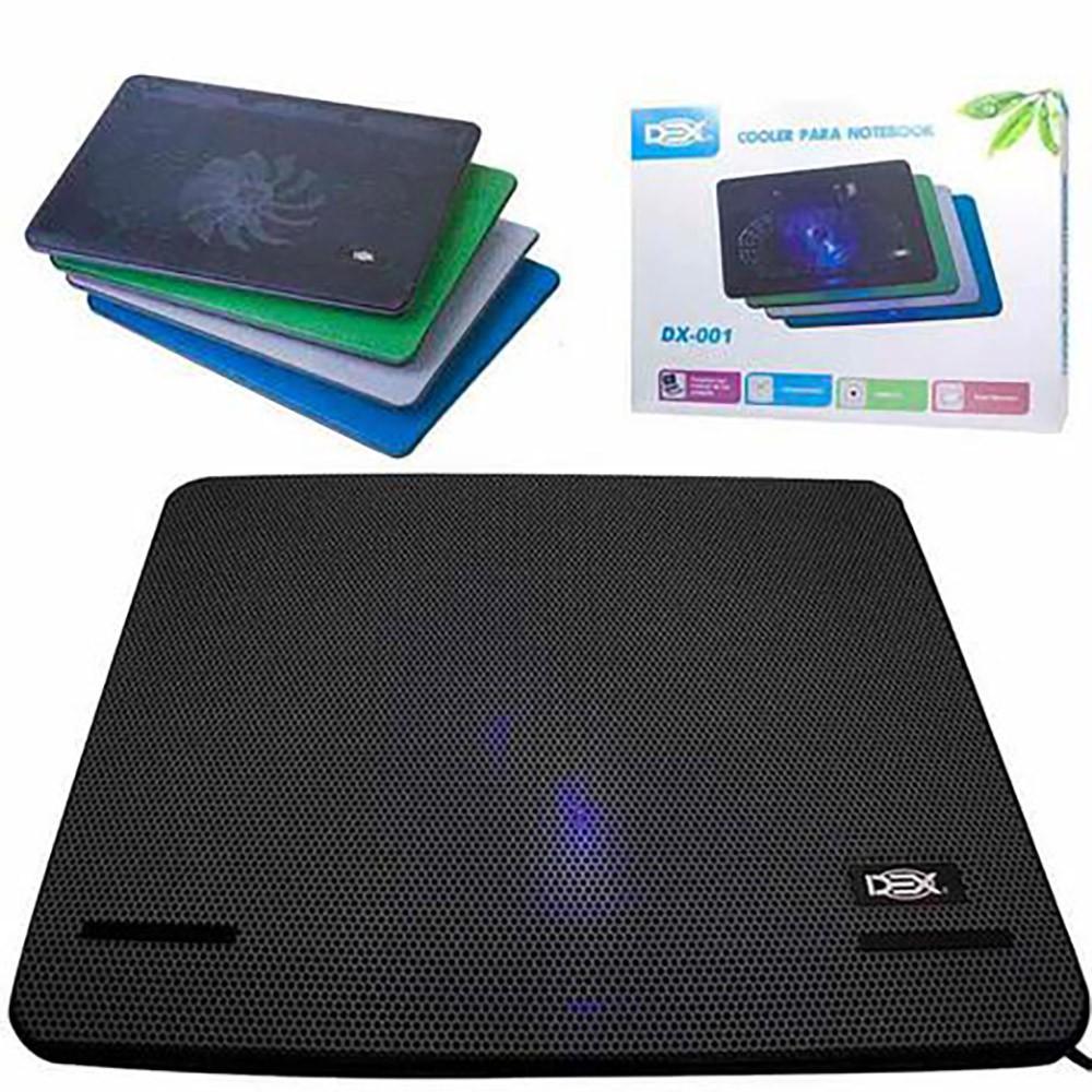 Base Ergonômica para Notebook com Cooler Dex e Led Dx-001