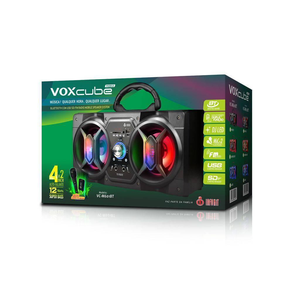 Caixa de Som Bluetooth Infokit vc-m601 BT Vermelho