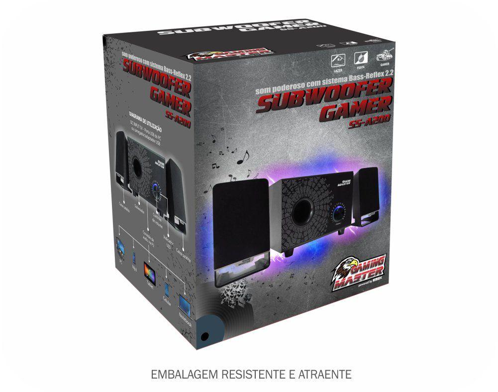 Caixa de Som c / Subwoofer Gamer Kmex ss-A200