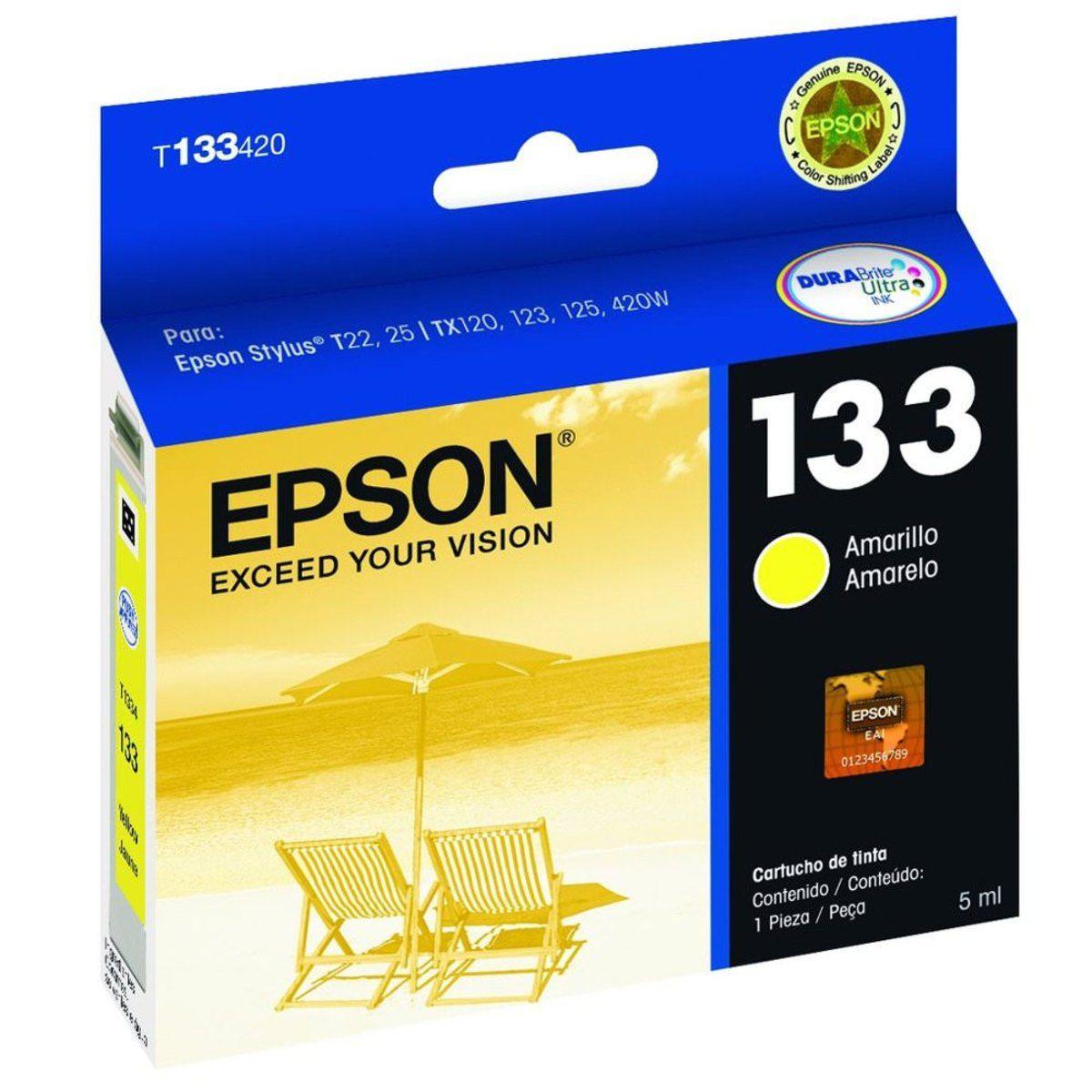 Cartucho de Tinta Epson 133 Amarelo