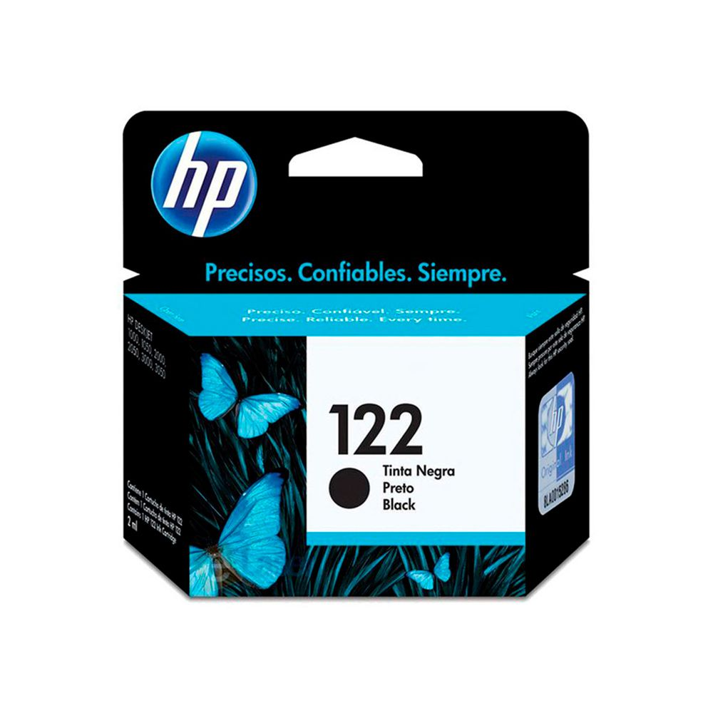 Cartucho de Tinta HP 122 Preto 1,5ml CH561HB
