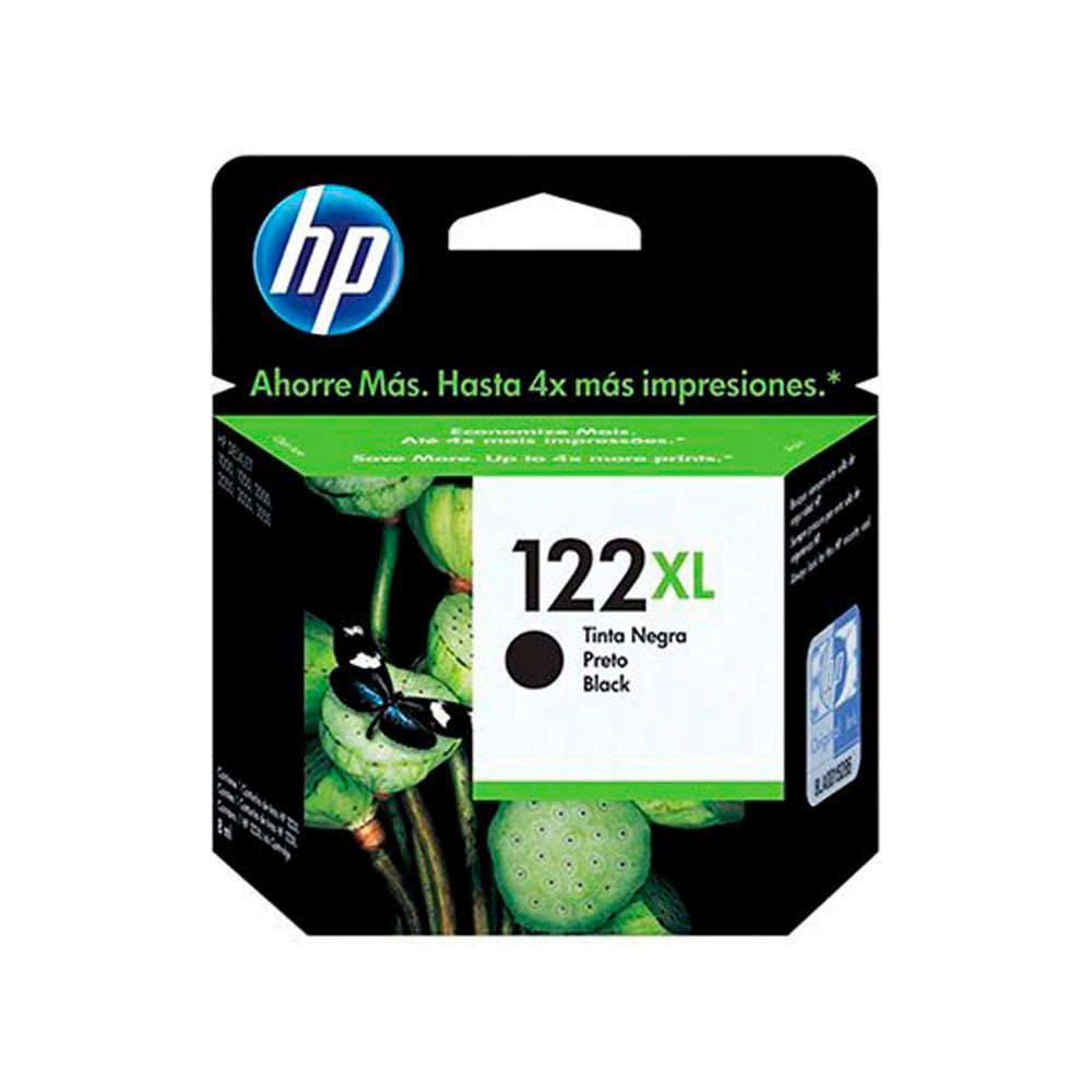 Cartucho de Tinta HP 122XL Preto 8ml CH563HB