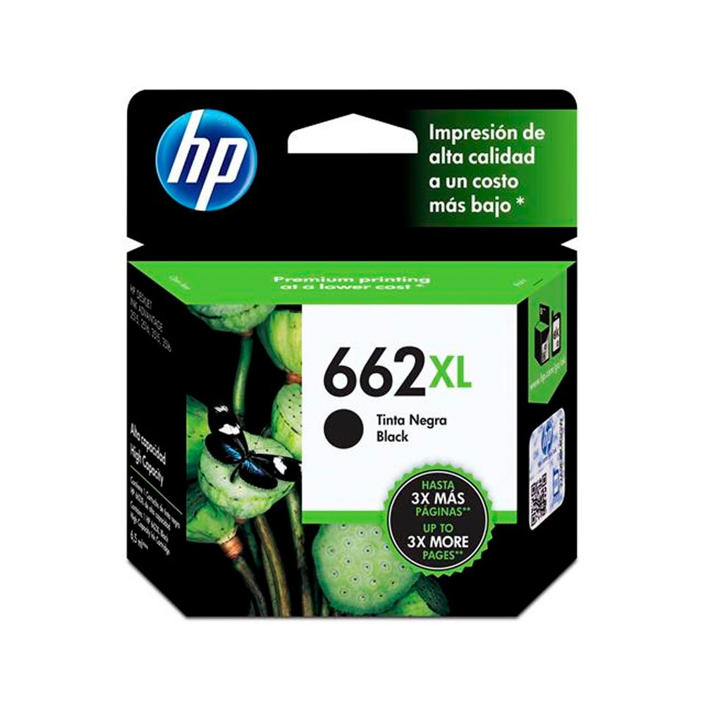Cartucho de Tinta HP 662XL Preto