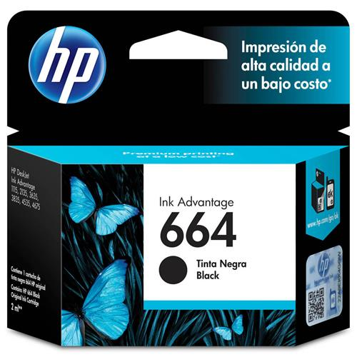 Cartucho de Tinta HP 664 Preto 2ml
