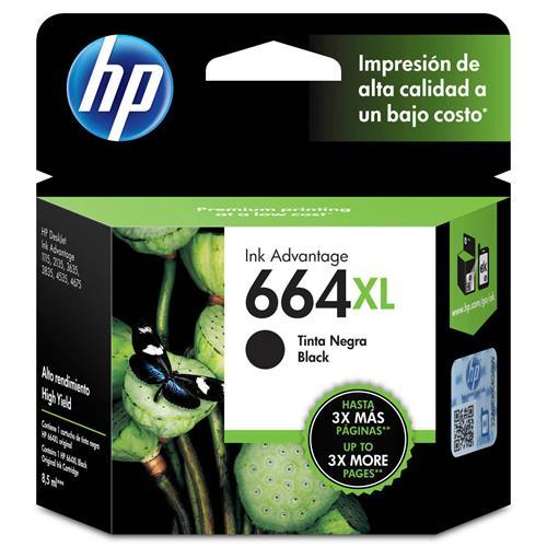 Cartucho de Tinta HP 664XL Preto
