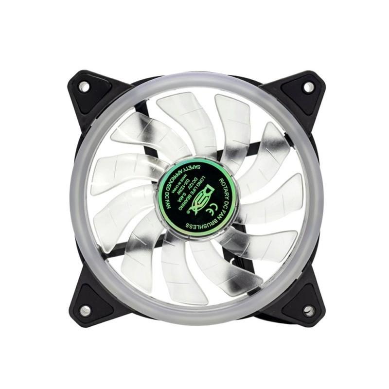 Cooler p/ Gabinete Dex 120mm c/ 4 Leds Branco Dx-12d