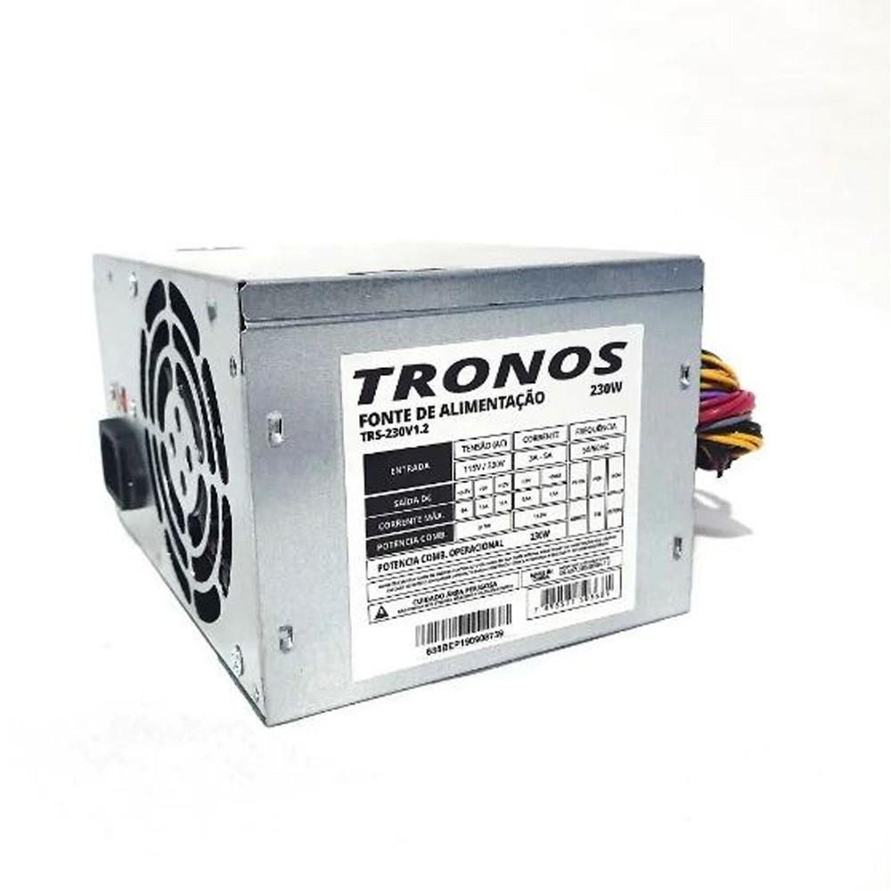 Fonte Atx 230W Tronos TRS-230 V1.2 24 Pinos Oem