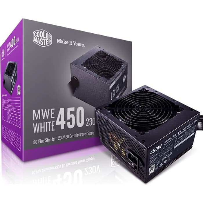 Fonte ATX 450W Cooler Master V2 80 Plus White Standart Mpe-4501-acaaw-br