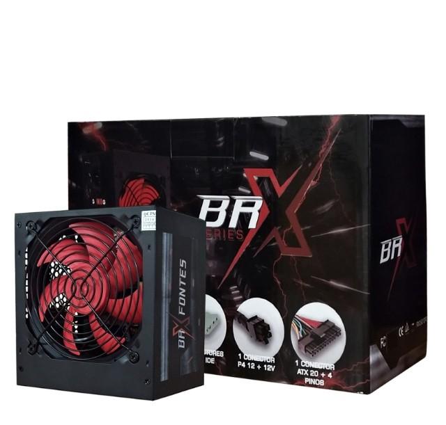 Fonte Atx 650W Automática Brx Cooler Vermelho