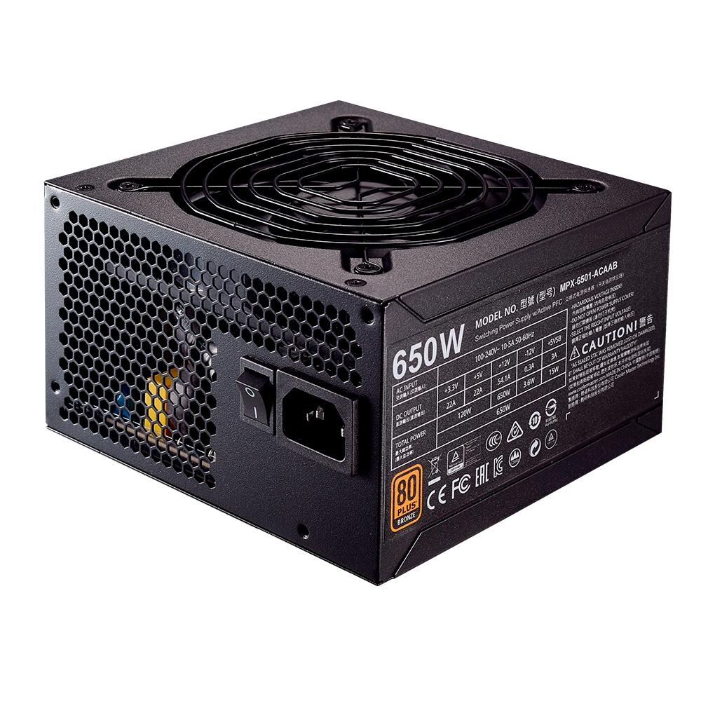 Fonte ATX 650W Cooler Master 80 Plus Bronze Mpe-6501-acaa-br