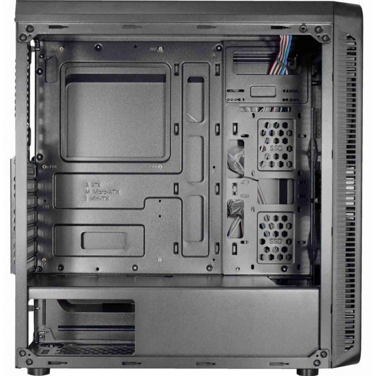 Gabinete Gamer KMex Infinity 5 Cg-05g8 RGB 3 Coolers + Fita