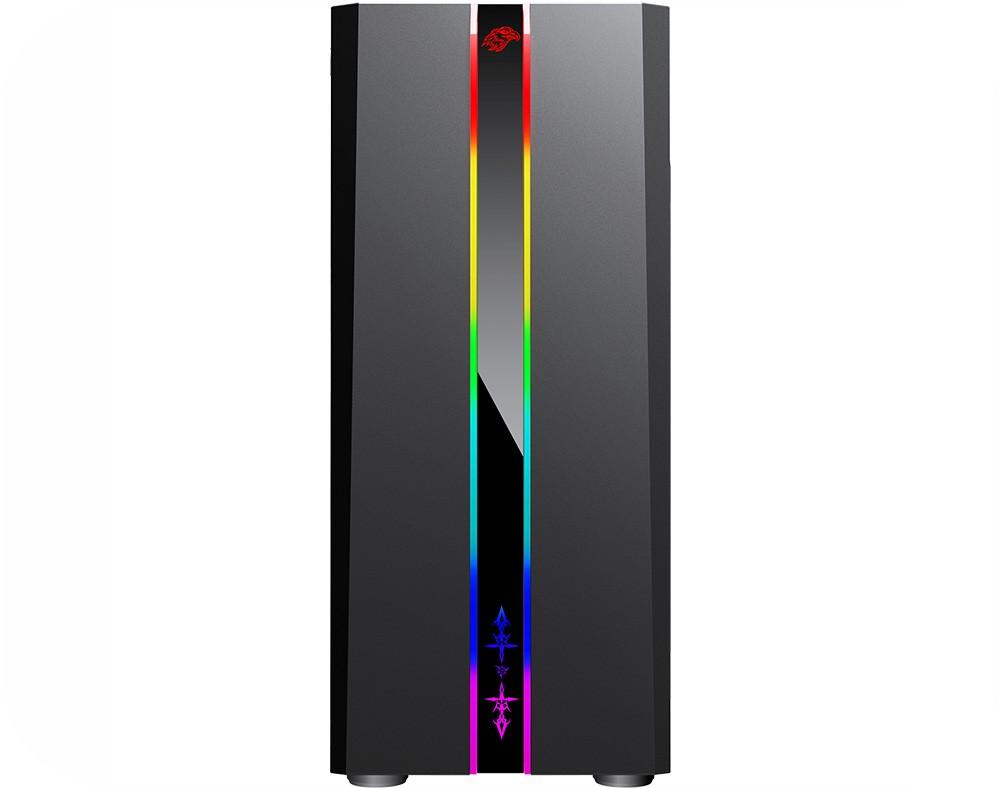 Gabinete Gamer KMex Odyssey CG04RD Painel RGB Rainbow s/Fan