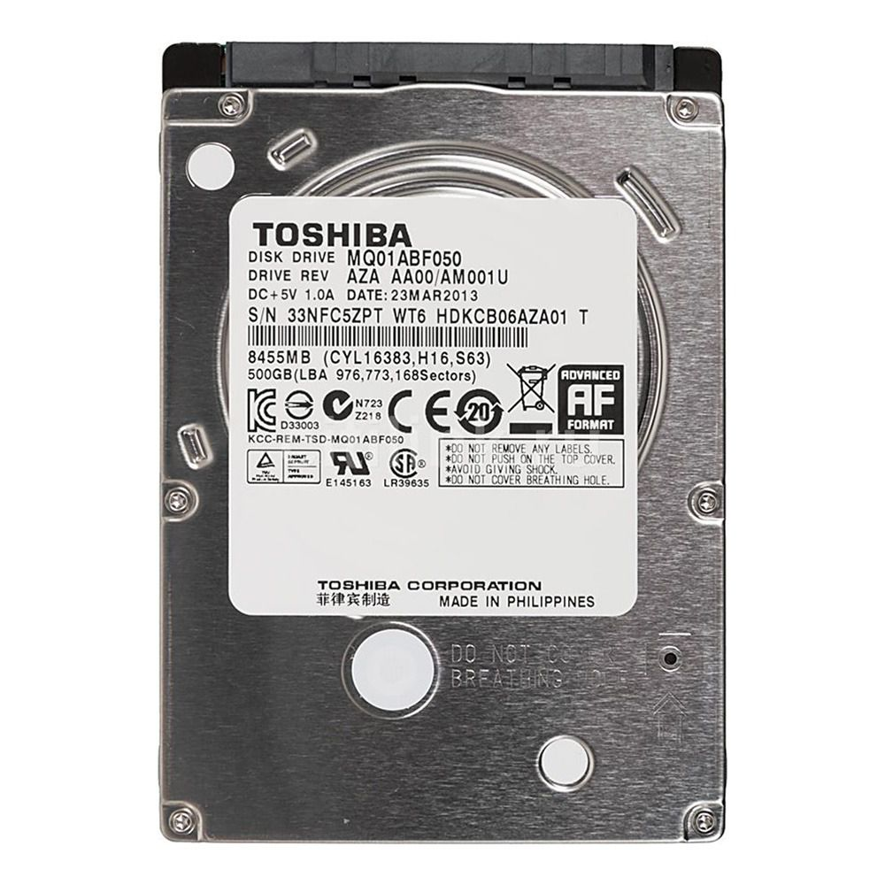 HD Notebook 500GB Sata3 Toshiba