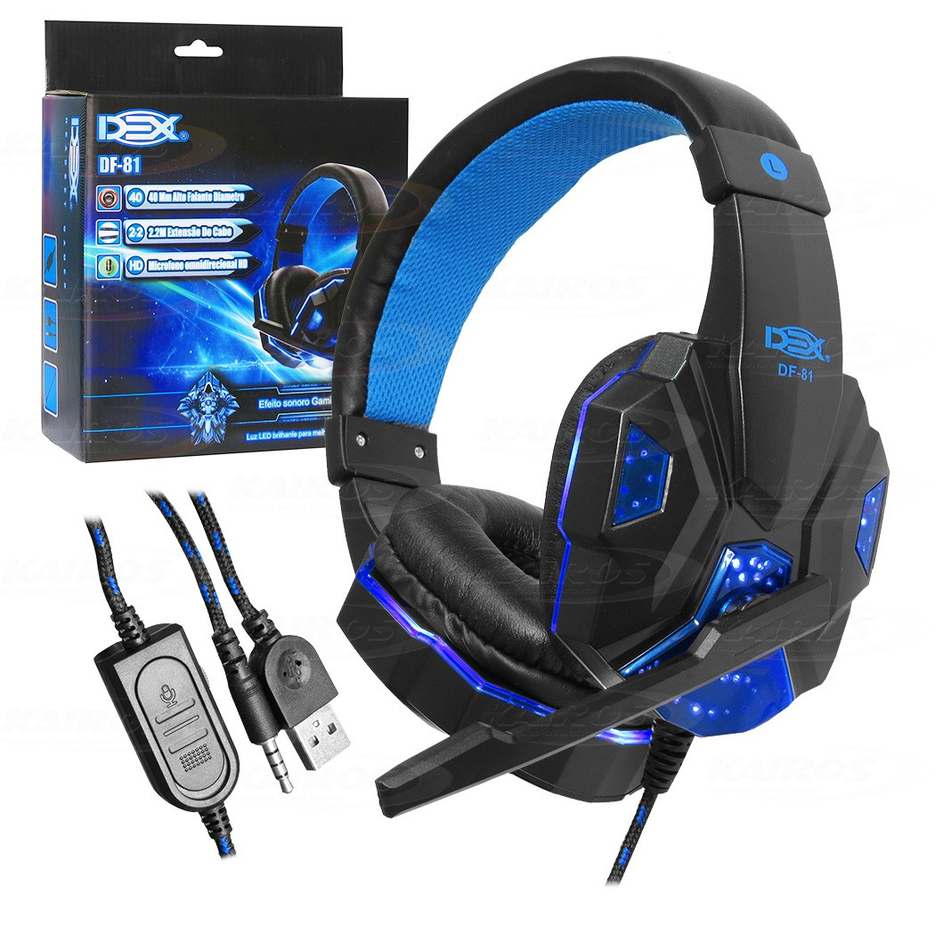 Headset Gamer Dex DF-81