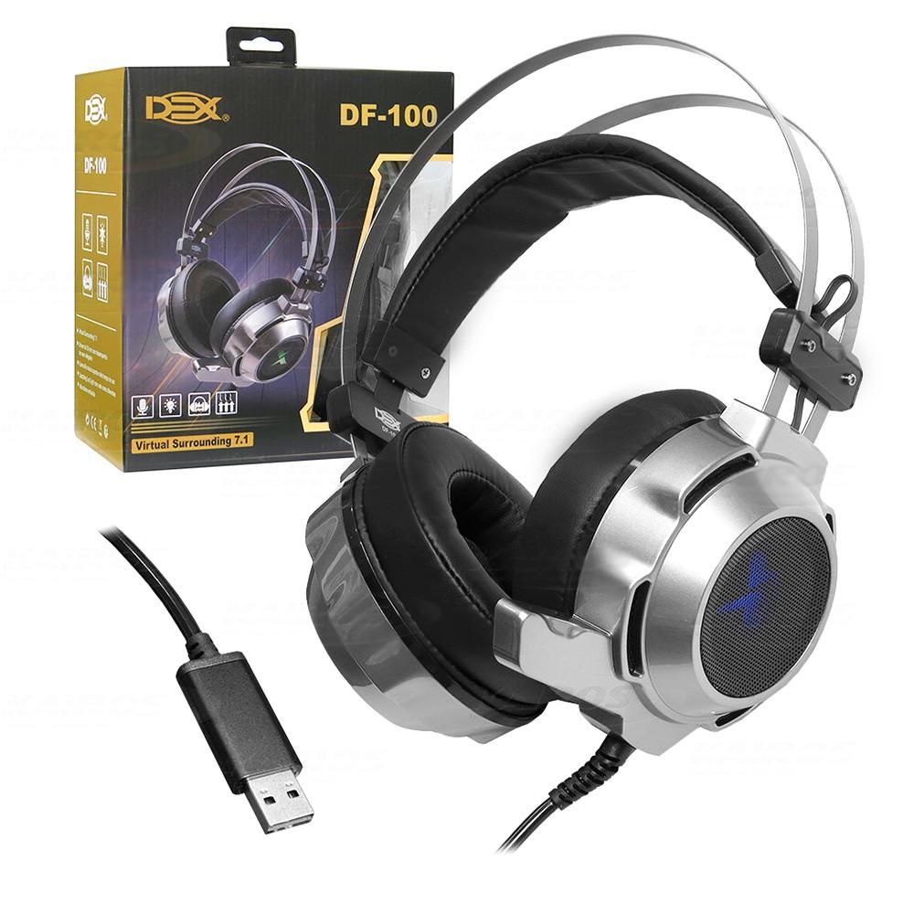 Headset Gamer Dex USB 7.1 Surround Df-100