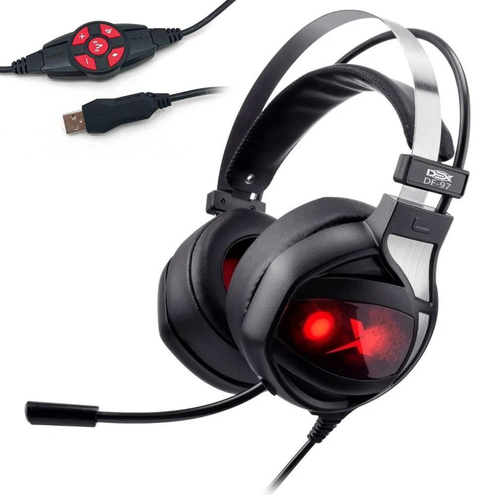 Headset Gamer Dex Vibration Usb 7.1 Df-97