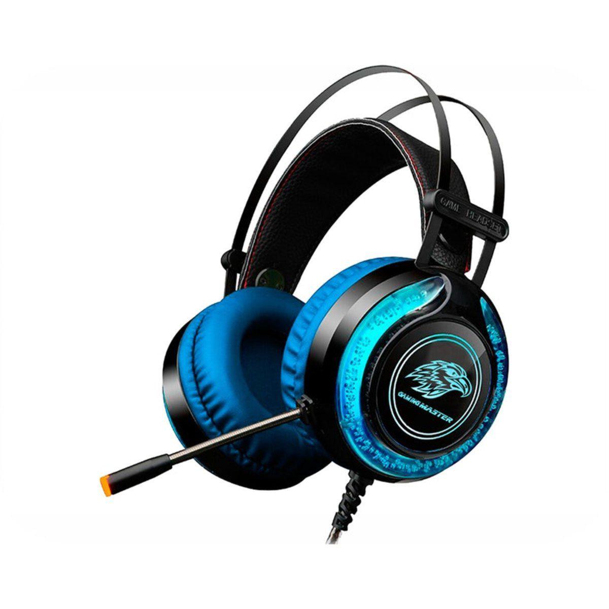 Headset Gamer LED RGB Kmex ARS930 Azul