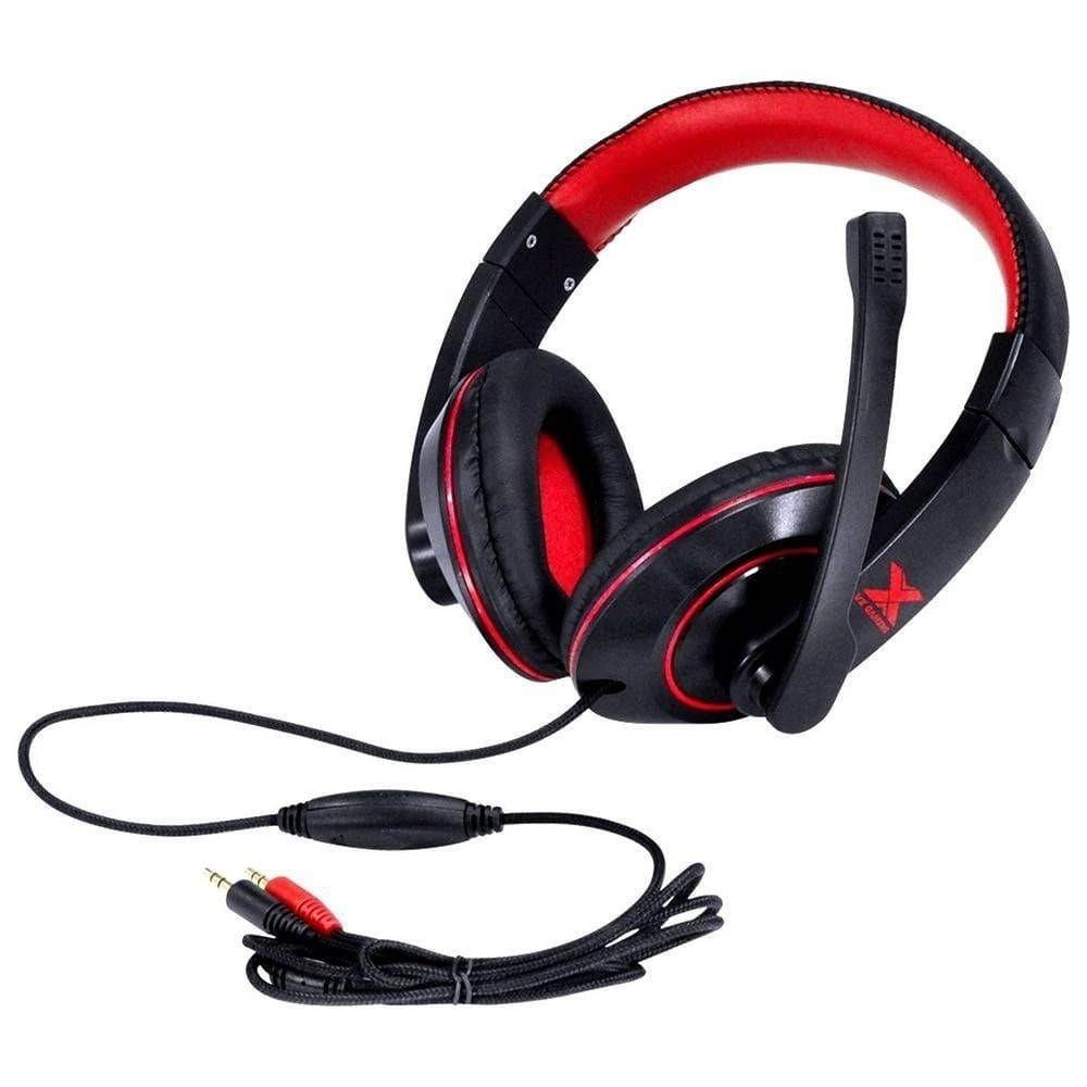 Headset Gamer P2 Blade 2 Preto/Vermelho Vinik