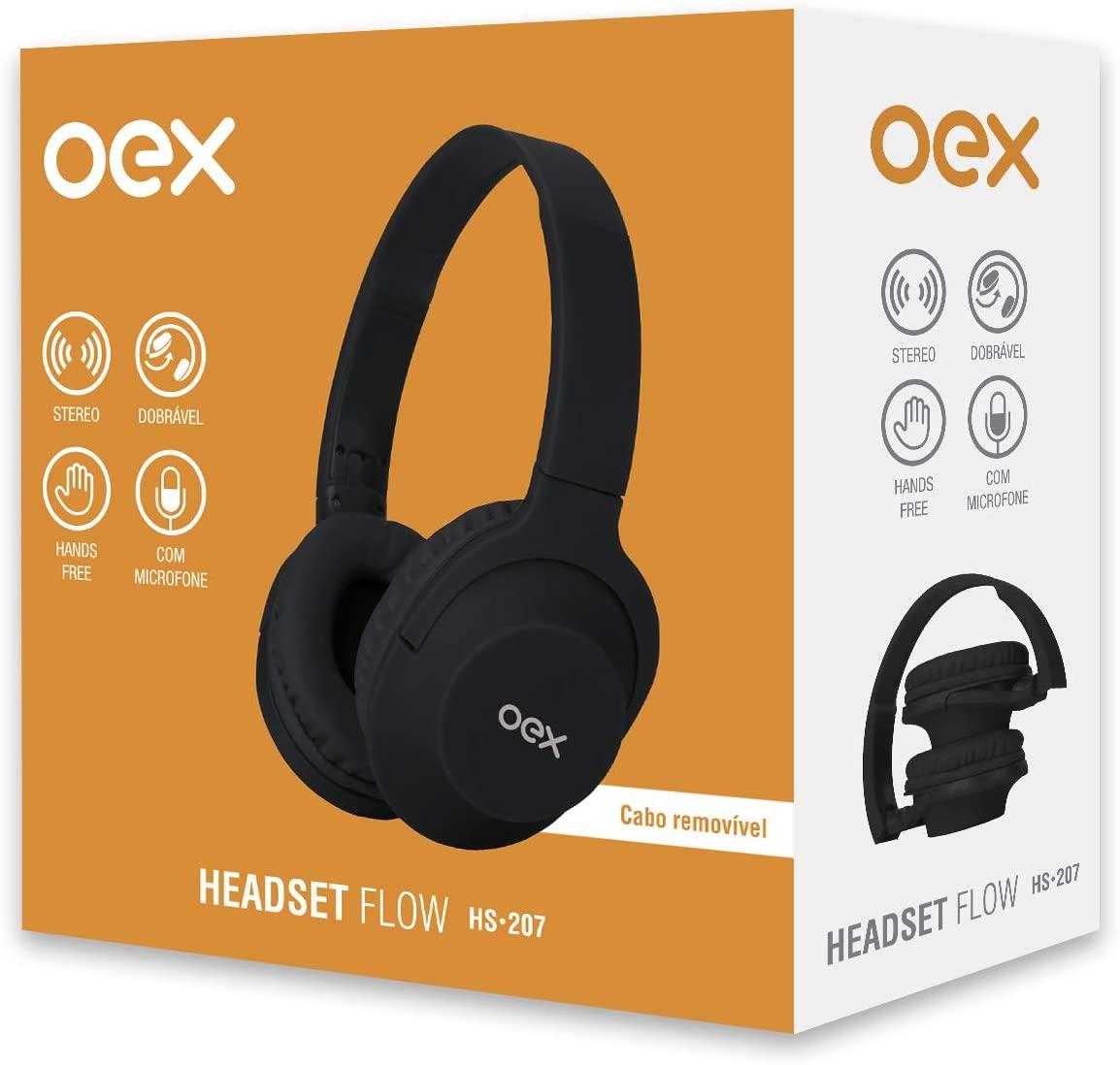 Headset OEX Flow Hs207 Preto