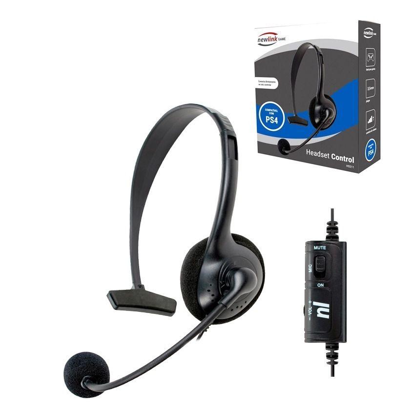 Headset p/ PS4 Newlink hs211
