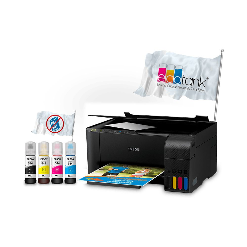 Impressora Multifuncional EcoTank Epson L3150 WiFi C11CG86302