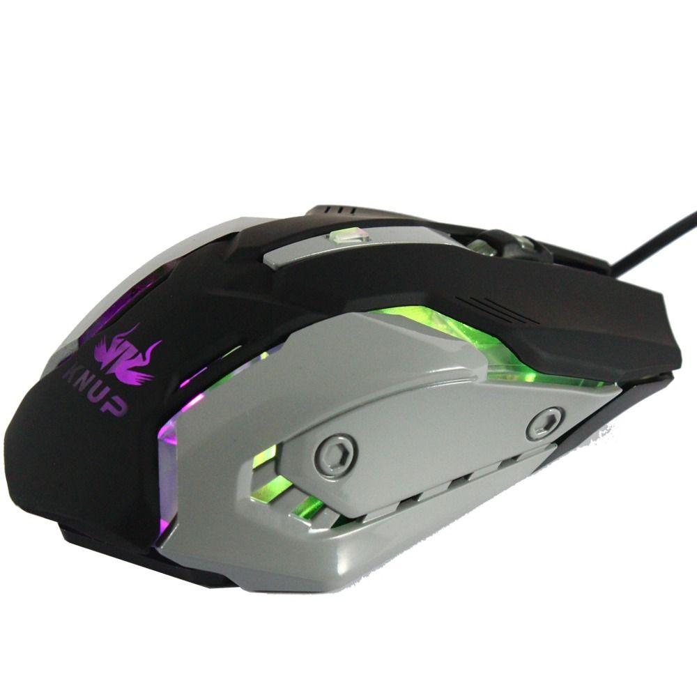 Kit Mouse e Teclado Gamer Knup Kp-2054