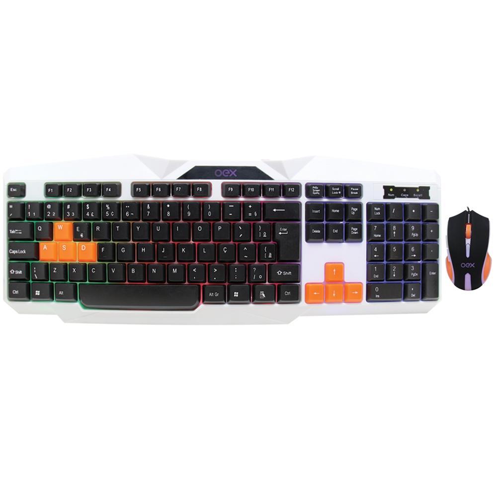 Kit Mouse e Teclado OEX Ice Tm300
