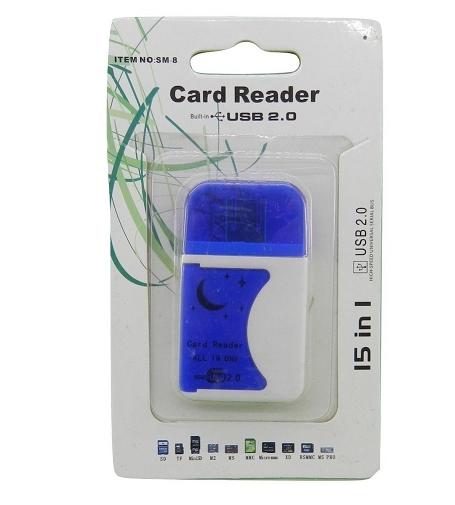 Leitor de Cartão 15 EM 1 Azul Hardline SM-3