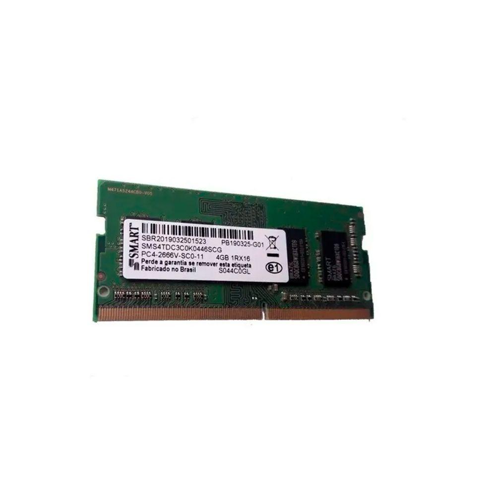Memória p/ Notebook 4Gb Ddr4 Smart 2666Mhz