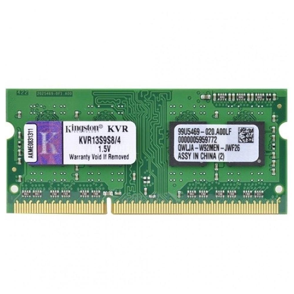 Memória para Notebook 4GB Ddr3 1333MHz Kingston Kvr13s9s8/4
