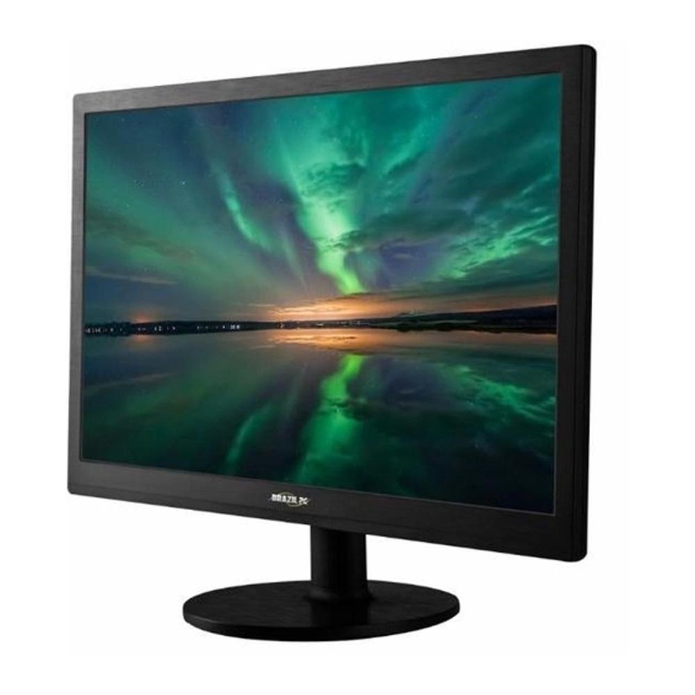 """Monitor BrazilPC Slim Led 20"""" M20XW Preto Vesa Widescreen"""