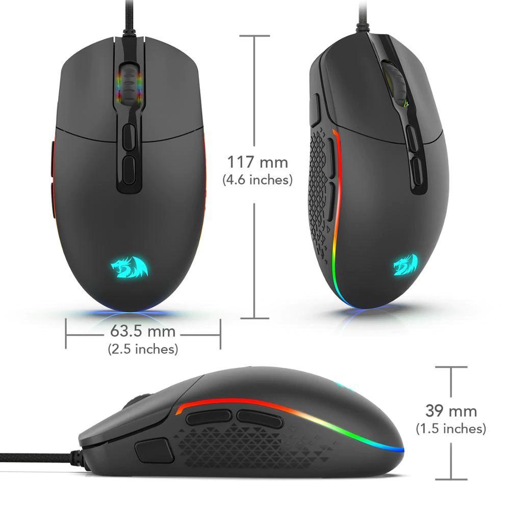 Mouse Gamer Redragon Invader Chroma Rgb M719