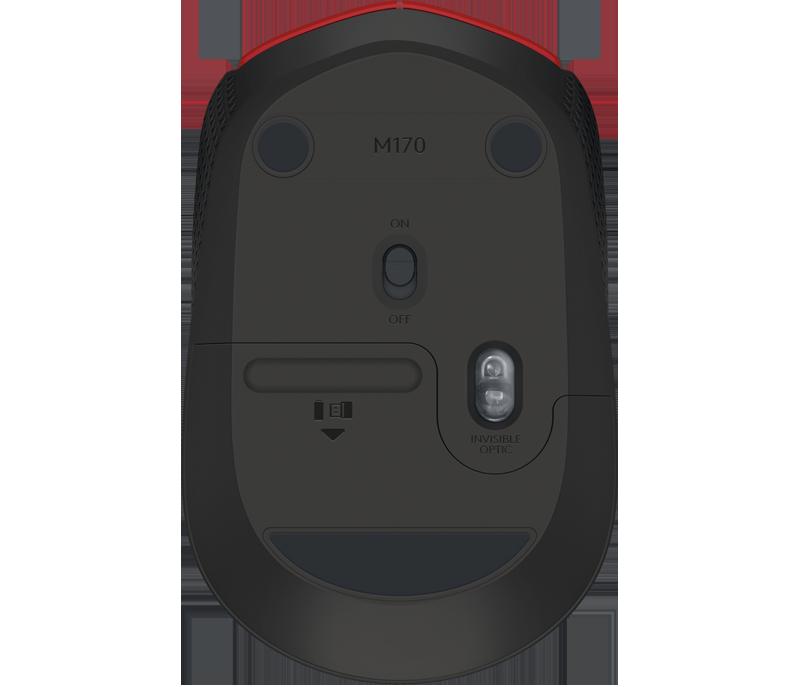 Mouse Wireless Logitech M170 Vermelho