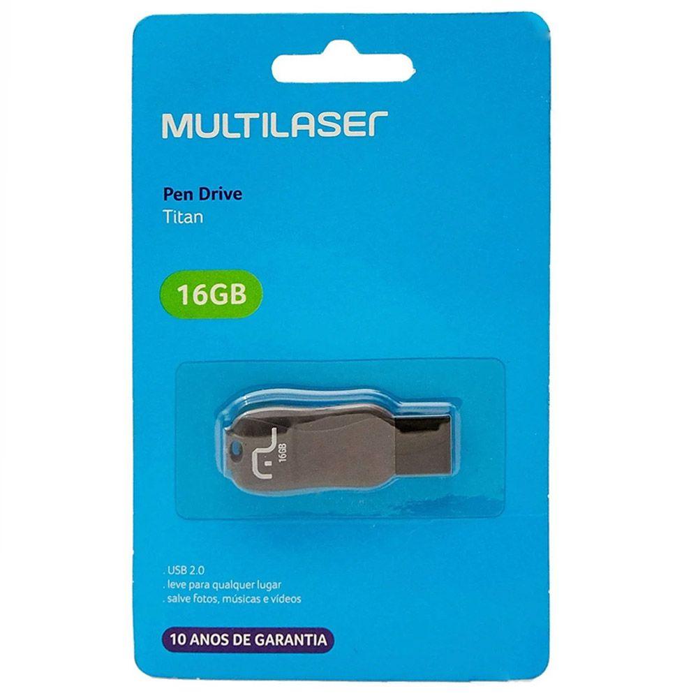 Pendrive 16GB Multilaser Titan pd602