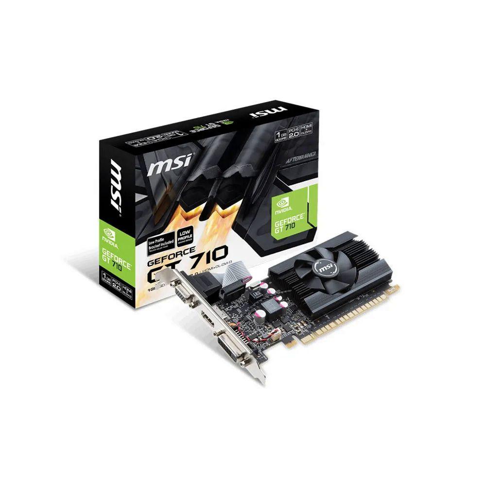 Placa de Vídeo 2gb Ddr3 MSI GeForce GT 710