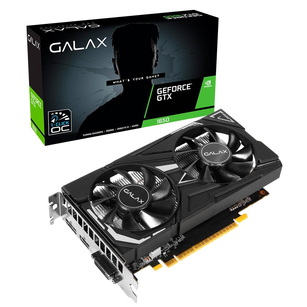 Placa de Vídeo GTX 1650 4GB 128Bits Galax 65sql8ds66e6