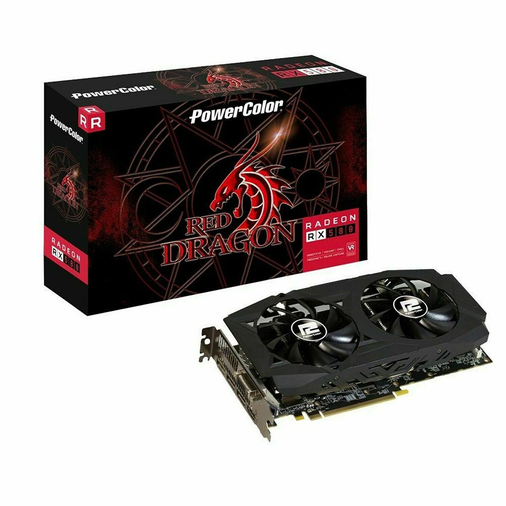 Placa de Vídeo RX 580 8GB 256bits Power Color 8GBD5-3DH/OC