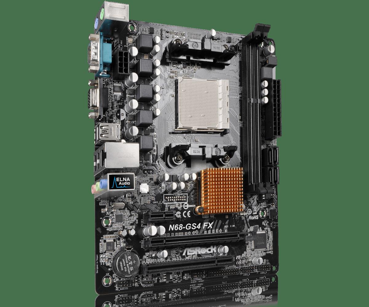 PLACA MÃE AMD AM3+ ASROCK N68-GS4 FX R2.0 DDR3 VGA SUPER ALLOY